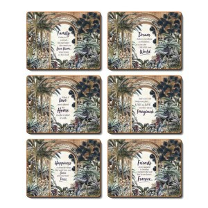 Dining Kitchen UTOPIA ARCH Cinnamon Cork Backed Placemats Set 6