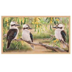 Patchwork Quilting Sewing Fabric KOOKABURRAS Panel 59x110cm
