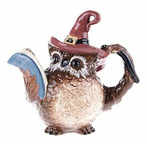 Collectable Novelty Kitchen Teapot WISE OWL Blue Sky China Tea Pot