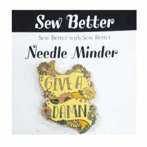Sew Better Cross Stitch Needle Minder Keeper GIVE A DAMN