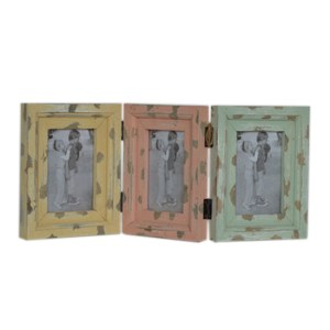 French Country Photo Frames RUSTIC SET OF 3 Joined 6x4 Inch