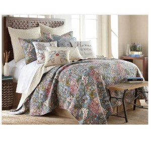French Country Patchwork Bed Quilt ANGELINA Throw Coverlet