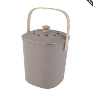 Eco Friendly Kitchen Scraps Compost Bucket GREY Bamboo Fibre