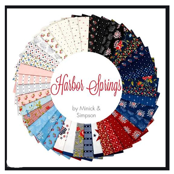 Quilting LAYER CAKE Patchwork MODA HARBOR SPRINGS 10 Inch Fabrics