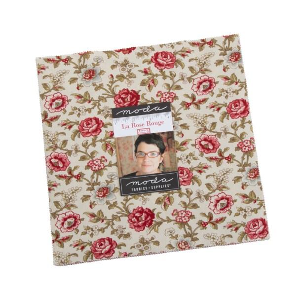Quilting LAYER CAKE Patchwork MODA LA ROSE ROUGE 10 Inch Fabrics