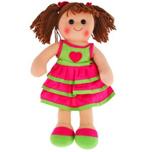 Hopscotch Lovely Soft Rag Doll MIA Girl Dressed Doll Large 35cm