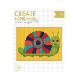 CREATE HANDMADE Long Stitch Kit Kids SNAIL 15x11cm