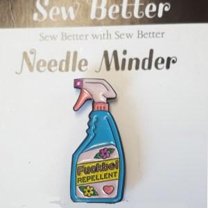 Sew Better Cross Stitch Needle Minder Keeper F.CKBOI REPELLENT