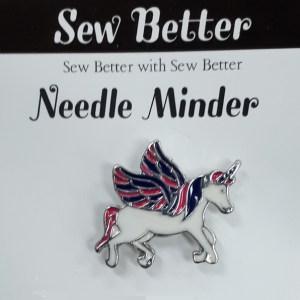 Sew Better Cross Stitch Needle Minder Keeper UNICORN