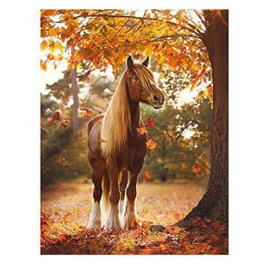 5D Diamond Painting Full Image Squares HORSE UNDER TREE 40x30cm
