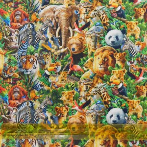 Quilting Patchwork Fabric NOAHS ARK ANIMALS 50x55cm FQ Material