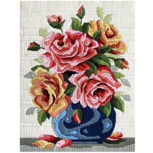 Country Threads Long Stitch Kit ROSES FLS-5029 Inc Threads