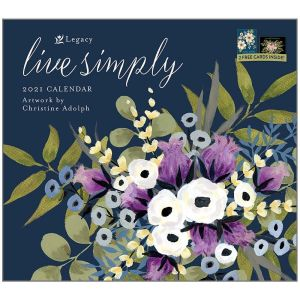 Legacy 2021 Calendar LIVE SIMPLY Calender Fits Lang Wall Frame