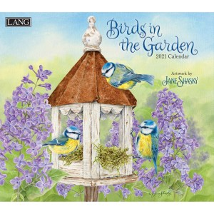 Lang 2021 Calendar BIRDS IN THE GARDEN Calender Fits Wall Frame