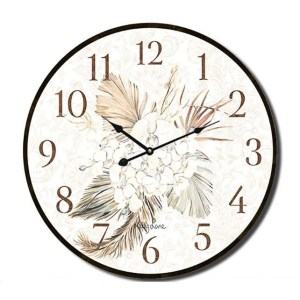 Clock Country Vintage Inspired Wall BISMARK Foliage 34cm