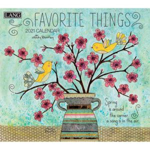 Lang 2021 Calendar FAVORITE THINGS Calender Fits Wall Frame