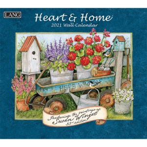 Lang 2021 Calendar HEART and HOME Calender Fits Wall Frame
