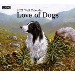 Lang 2021 Calendar LOVE OF DOGS Calender Fits Wall Frame