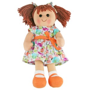 Hopscotch Lovely Soft Rag Doll OLIVIA Girl Dressed Doll Large 35cm