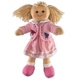 Hopscotch Soft Rag Dressed Doll PAIGE Girl Doll Medium 25cm