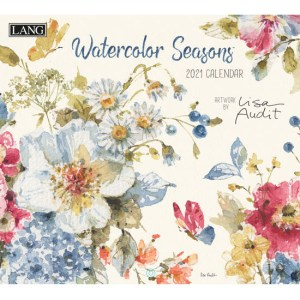 Lang 2021 Calendar WATERCOLOUR SEASONS Calender Fits Wall Frame