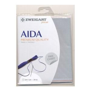 Cross Stitch Aida Cloth 14 Count ZWEIGART PEWTER GREY 36x48cm Fabric