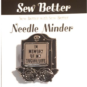 Sew Better Cross Stitch Needle Minder Keeper MEMORY OF SOCIAL LIFE