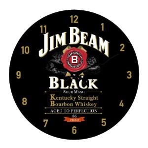 Clock French Country Wall Small Clocks 17cm JIM BEAM BLACK ALCOHOL
