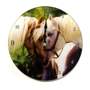 Clock French Country Wall Clocks 17cm HORSES HEADS Small