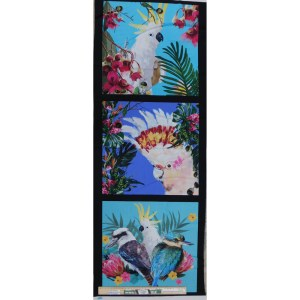 Patchwork Quilting Sewing Fabric BOTANICAL BIRDS 1 Panel 40x110cm