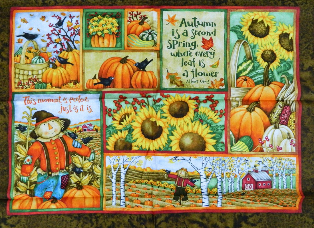 Country Quilting Fabric Harvest Time Debi Hron Scarecrows
