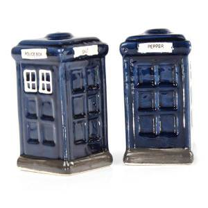 French Country Collectable Novelty Dr Who Police Boxes Salt and Pepper Set New