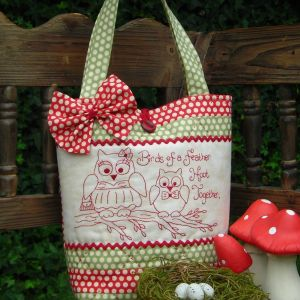 Quilting Sewing Bag Pattern HOOT TOGETHER Sally Giblin Rivendale Collection Pattern NEW