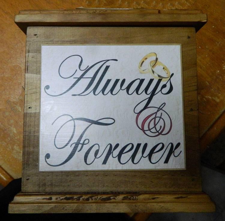 Wooden Wedding Wishing Well Card Box Engagement Quality Handmade New