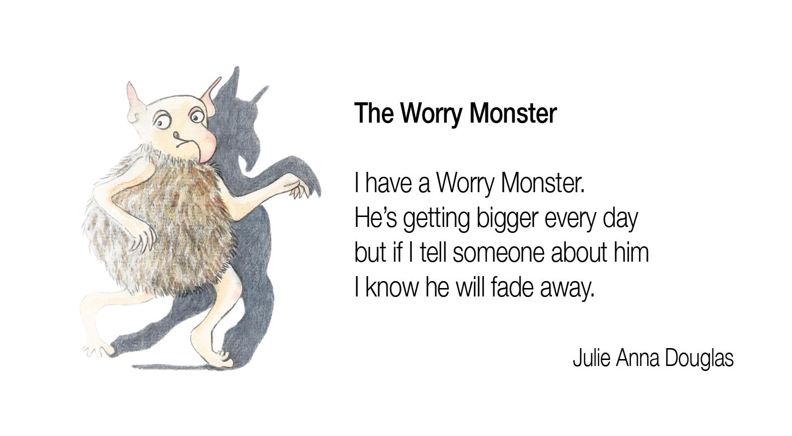 Worry Monster Worksheet Jools Wilson