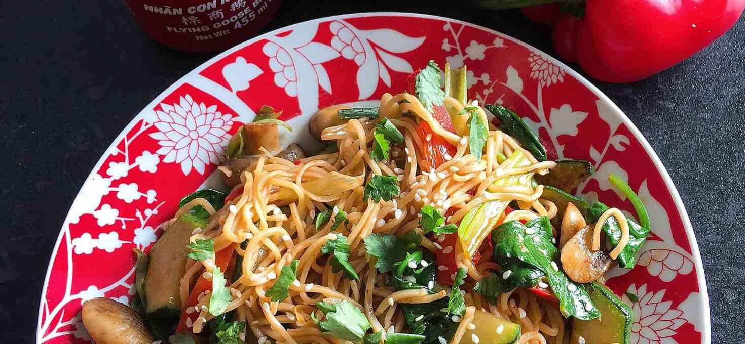 Sriracha stir fried vegetables