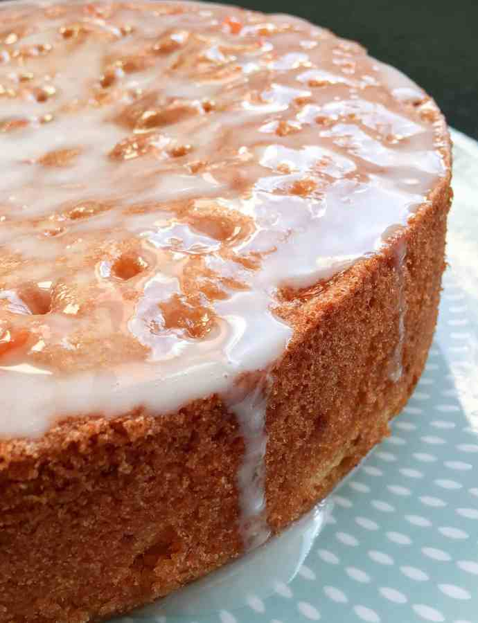 Pink grapefruit drizzle cake