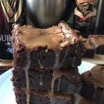 Guinness Brownies with salted caramel Baileys Glaze