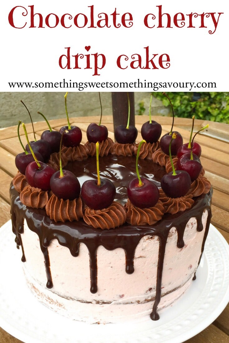 Chocolate Cherry Drip Cake