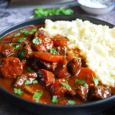 Slow Cooker Beef and Chorizo Casserole