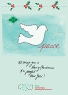 """Wishing you a Merry Christmas and a Peaceful New Year!"" ~Cherish Flieder, http://SomethingToCherish.com"
