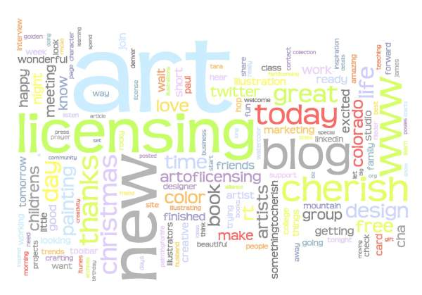 Twitter Wordle for @cherishart