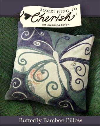 Cherish Butterfly Bamboo Pillow Featured Design