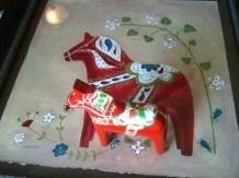 Dala horse art Sweden inspired