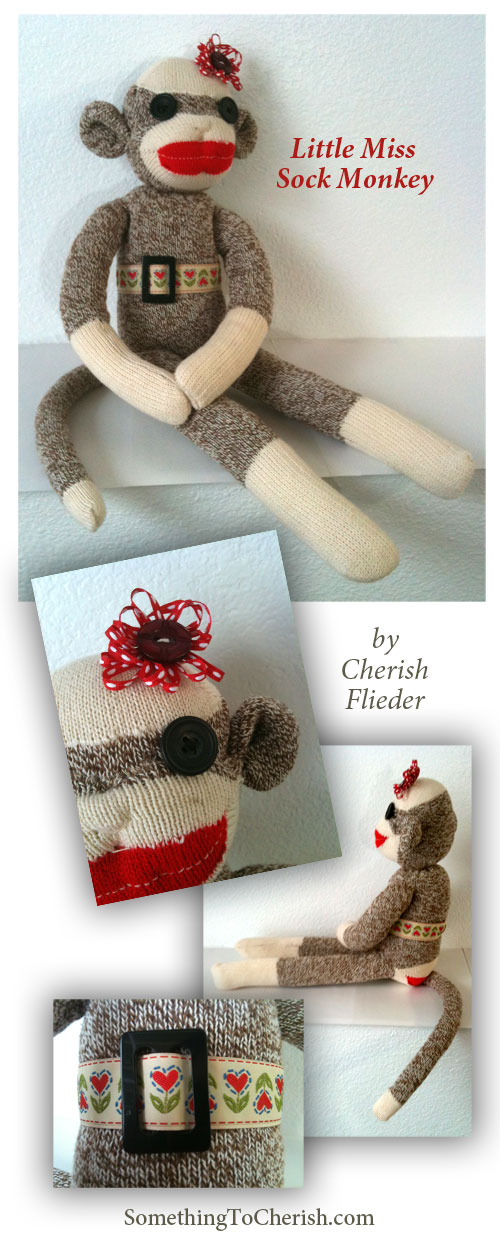 Little Miss Sock Monkey - Something to Cherish - Cherish Flieder