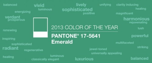 pantone 2013 color emerald