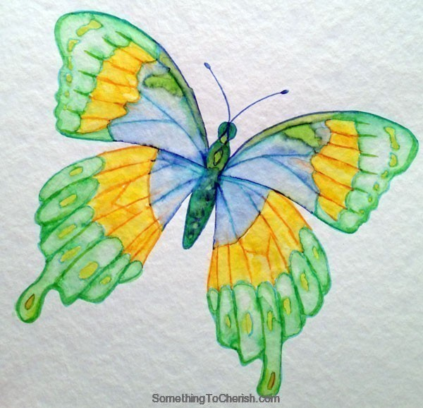Watercolor Markers Butterfly