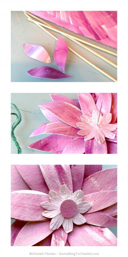 Something to Cherish - Watercolor Paper Flowers