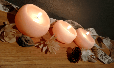 How do I make homemade water balloon candles for fall decor
