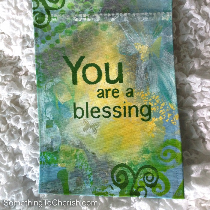 You are a blessing. Banner of Hope by Cherish Flieder of Something to Cherish